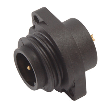 Power Connector Lock Type(12A):Panel Mount(Male)