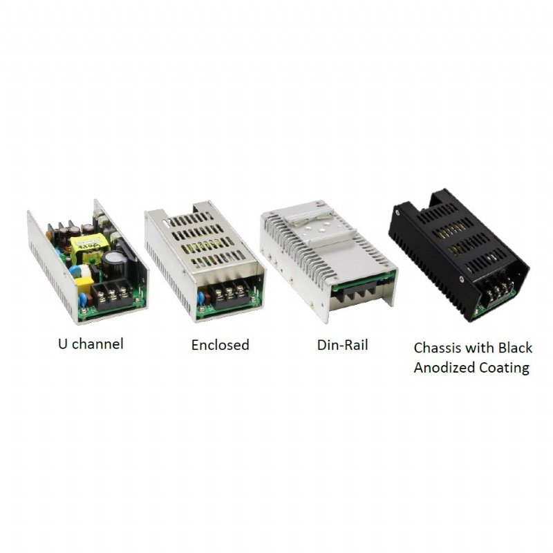 40/65Watts Single Output U channel/Enclosed/Din-Rail