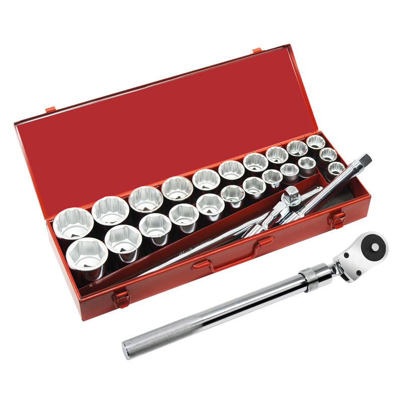 """27PC.—3/4"""" DR.HAND SOCKET WRENCH SET"""