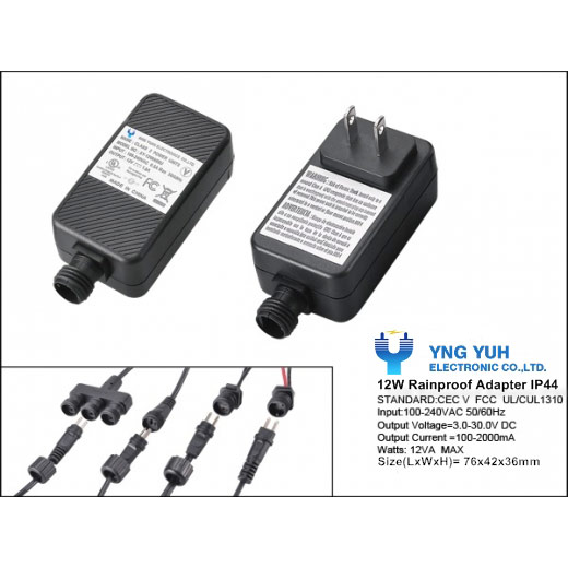 YY - 12W IP44 Waterproof Adapter