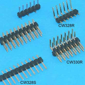"0.100""(2.54mm) Pitch Pin Header Connector - DIP type"