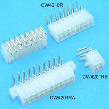 "0.165""(4.20mm) Pitch Power Dual Row connectors Wafer"