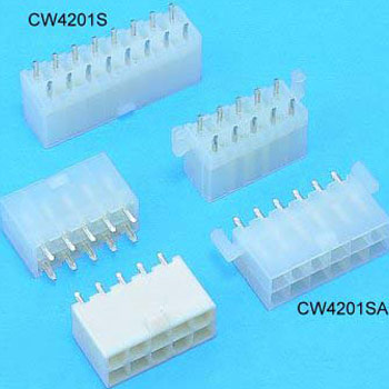 """0.165""""(4.20mm) Pitch Power Dual Row Connectors Wafer"""