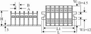 TS series terminal blocks blueprint
